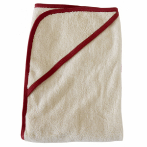 Bornsage Hooded Towel Red Trim