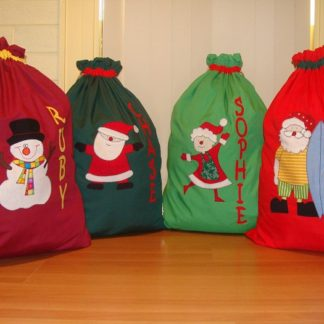 Handmade personalised Santa Sacks