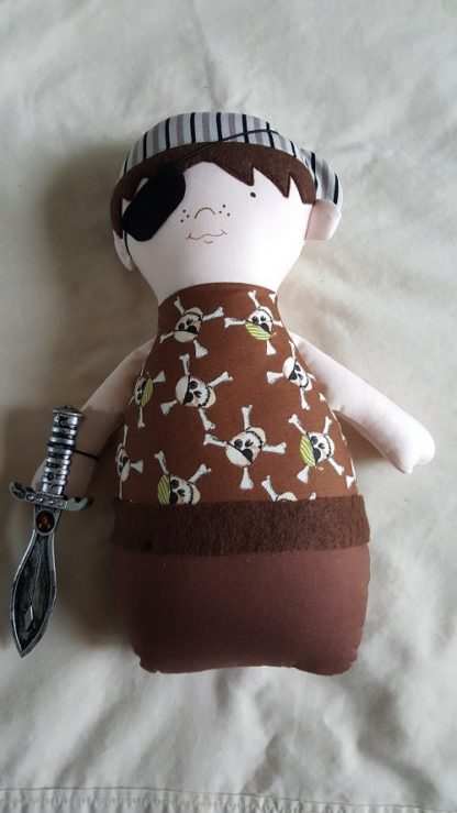 Handmade Softie Doll - Pirate