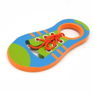 Wooden Learn To Tie Shoe Lace