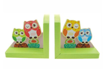 Wooden Bookends - Owl