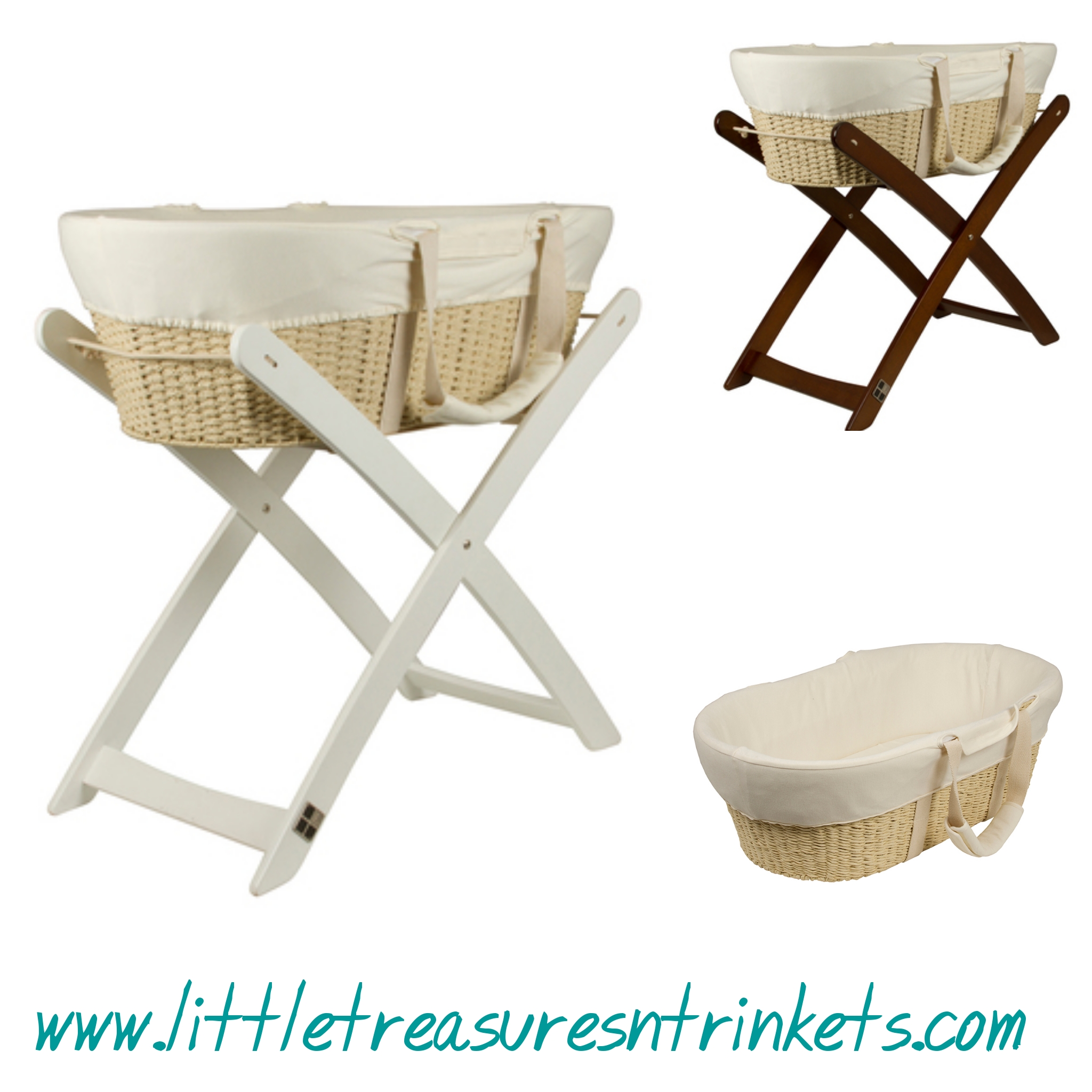 bebe moses basket optional stand little treasures n trinkets. Black Bedroom Furniture Sets. Home Design Ideas