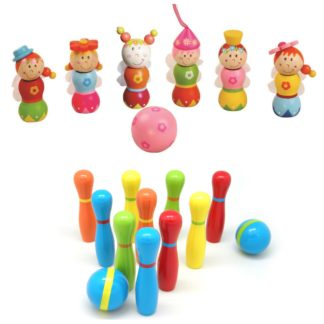 Wooden Ten Pin Bowling Set