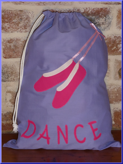 Handmade to Order personalised Library Bags Ballet Shoes