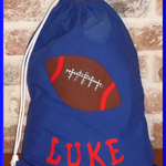 Handmade to Order personalised Library Bags Football