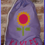Handmade to Order personalised Library Bags Sunflower