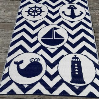 Sea Blue Objects Indoor Outdoor Rug