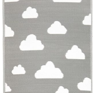 Grey Clouds Indoor Outdoor Rug