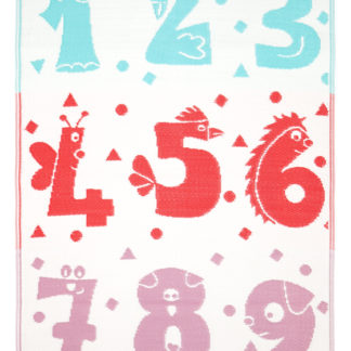 Numbers Shapes Indoor Outdoor Rug