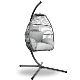 Gardeon Outdoor Wicker Egg Hanging Swing Chair