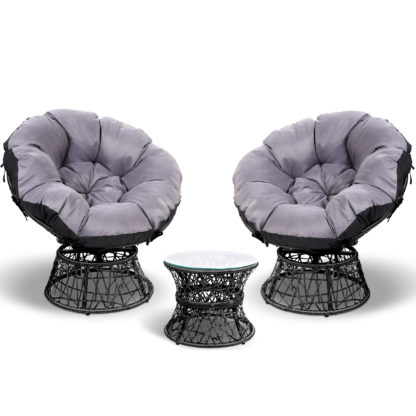 Gardeon Papasan Chair and Side table set